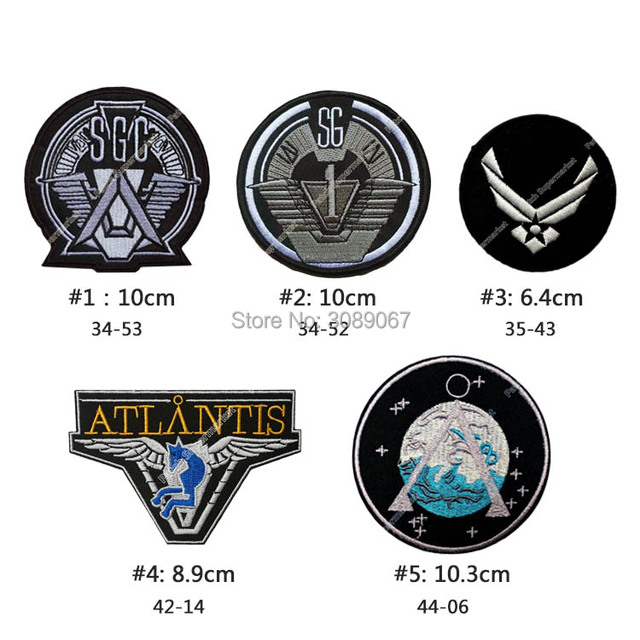 STARGATE SG1 Main Team Prop Uniform Patch TV Series punk rockabilly applique sew on/ iron on patch Wholesale Halloween