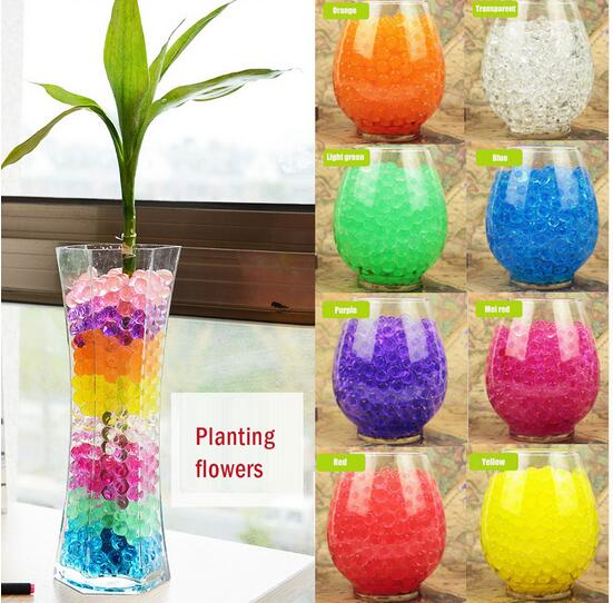 Hot sell 100pcs crystal soil growing water ball hydrogel for Decoration maison aliexpress