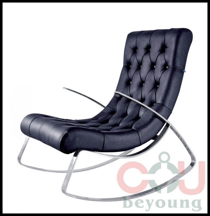 Remarkable Stainless Steel Frame Rocking Chair Rocking Recliner Leather Forskolin Free Trial Chair Design Images Forskolin Free Trialorg