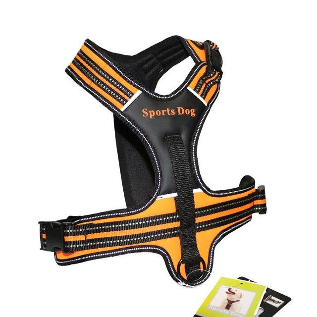 新しい犬の首輪革ペット犬ハーネス引っ張るトレーニング胸ハーネス大型犬スポーツ作業犬フィット用ハスキーピットブル