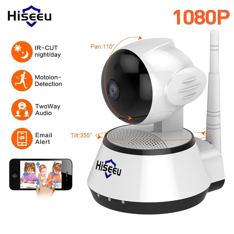Hiseeu 1080P IP Camera 2MP Wi-Fi Wireless Security rotate Camera WiFi IP home Security Camera Baby Monitor Two-way Audio P2P 1080p wifi wireless security ip camera p2p pan tilt two way audio