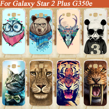 11 Patterns Hard PC Case FOR Samsung Star 2 Plus G350e Fashion Cover Cases For Samsung G350e Star Advance Free Shipping image