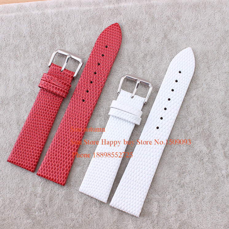 Wholesale Watch Straps lizard grain ultra-thin multicolour leather watchband white red watch strap band female 10-20mm New lizard сандали nes 35 red