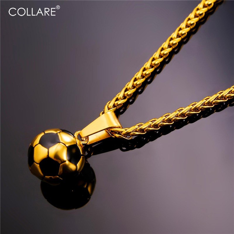 Collare Ball Necklaces & Pendants Gold Color Stainless ...