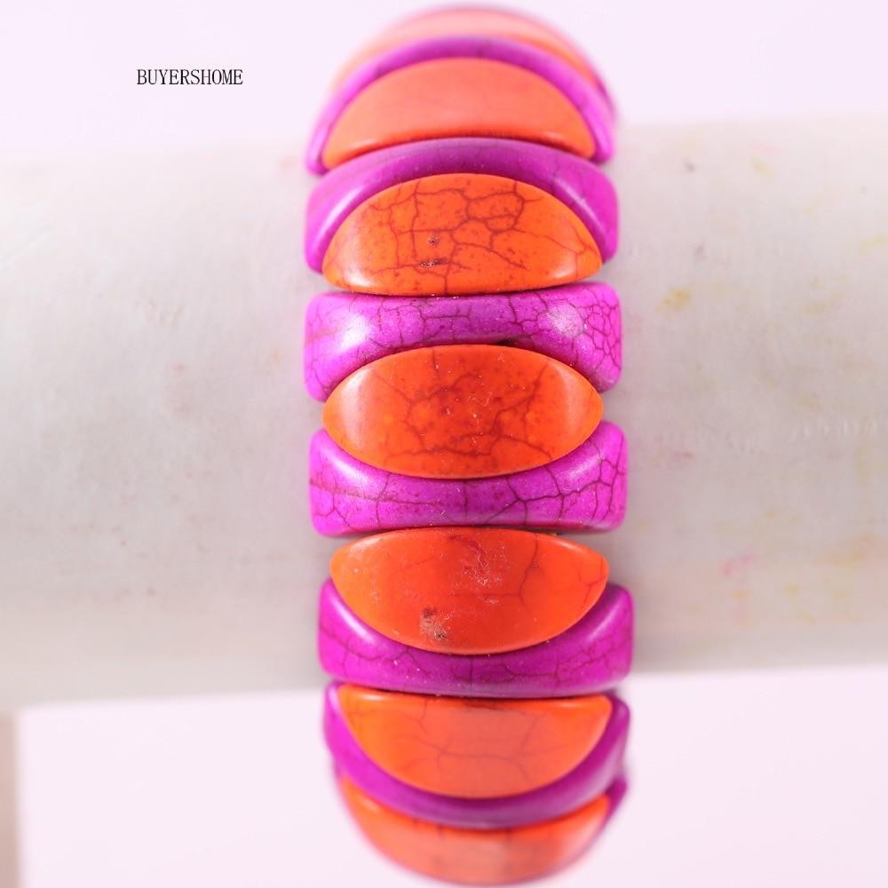 Hecho a mano bastante Amatista Púrpura Glass lámina de grano de corazón /& Fancy encanto pulsera