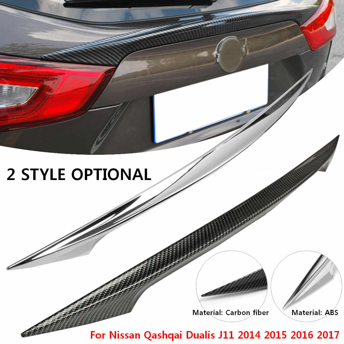 Achter Portierbekleding Achter Kofferbak Spoiler Cover Sticker Wing Styling voor Nissan Qashqai Dualis J11 2014 2015 2016 2017