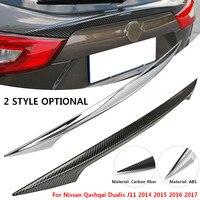 Rear Door Trim Rear Car Trunk Spoiler Cover Sticker Wing Styling for Nissan Qashqai Dualis J11 2014 2015 2016 2017