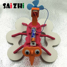Saizhi Scientific Experiment Toys DIY Assembly Water Spider Robot Toy Children Educational Gift Kits Creative Puzzle Assembly(China)