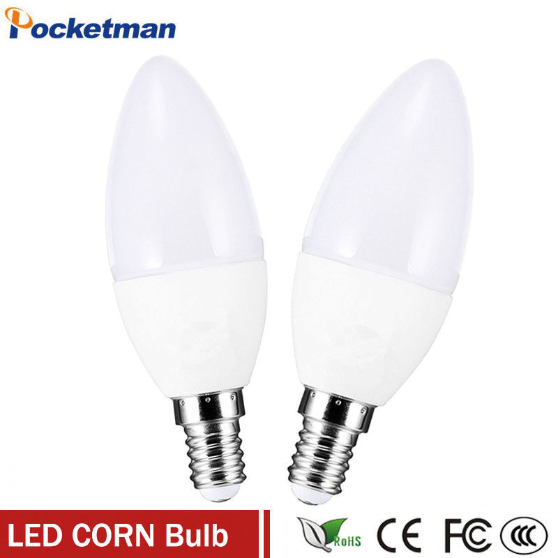 1Pcs/Lot LED E14 Bulb LED Candle Lamp Low-Carbon life SMD2835 e14 led AC220-240V Warm/White Energy Saving Free shipping zk40