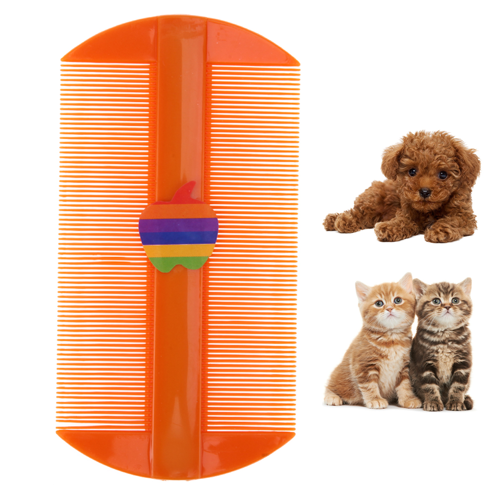 Pet Dog Cat Flea Comb Anti-static Flea Lice Comb Pet Grooming Fine Tooth Hair Comb Puppy ...