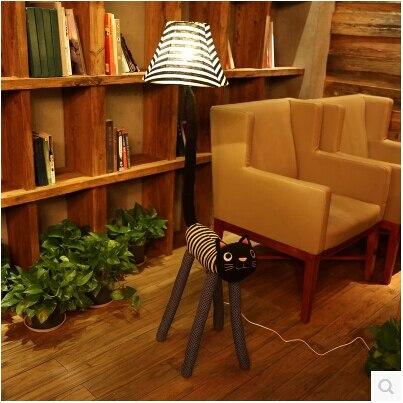 free shipping hot cottage novel E27 fabric cartoon animal cat floor lamp childrens room lamp present living room bedroom1159