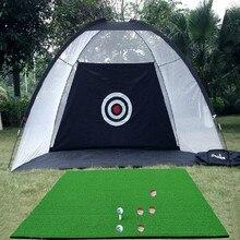 Крытый Открытый 2 м* 1,4 м* 1 м Гольф Практическая сетка для гольфа ударная клетка садовые луга практическая палатка для гольфа тренировочное оборудование