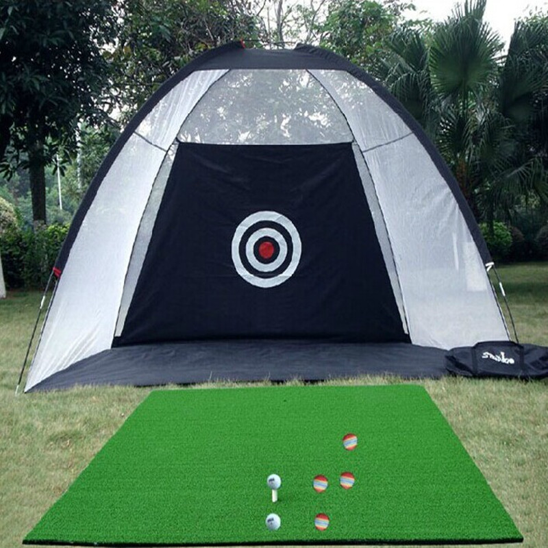 Indoor Outdoor 2m*1.4m*1m Golf Practice Net Golf Hitting Cage Garden Grassland Practice Tent Golf Training Equipment