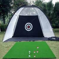 Indoor Outdoor 2m*1.4m*1m Golf Practice Net Golf Hitting Cage Garden Grassland Practice Tent Golf Training Equipment