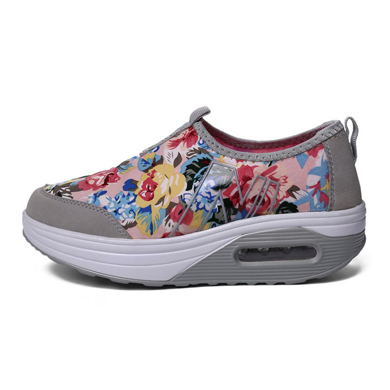 Spring Shake Shoes Kvinnor Skriv ut Casual Outdoor Shoes Flower - Damskor - Foto 2