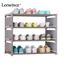 Leewince Simple Shoe Cabinets Ironwork Multi layer Assembly of Shoe Rack with Modern Simple Dustproof Shoe