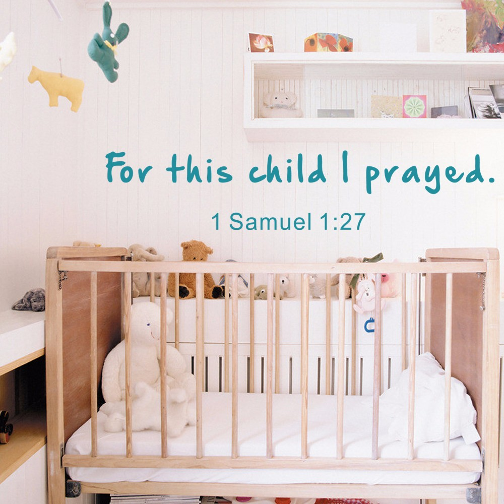 For This Child I Prayed Wall Decal Bible Verse Scripture Wall - Bible verse nursery wall decals