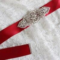 Women Wedding Dress Belt Bride Belt Sash Accessoire Mariage Rhinestone Belt for Bridesmaids Dresses