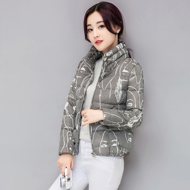 56ca15853 US $20.33 39% OFF|Female Fashion Slim Jackets Korean Office Ladies Smart  Bomber Jackets Women Casual Puffer Parka Stand Collar Coats Black  Clothes-in ...
