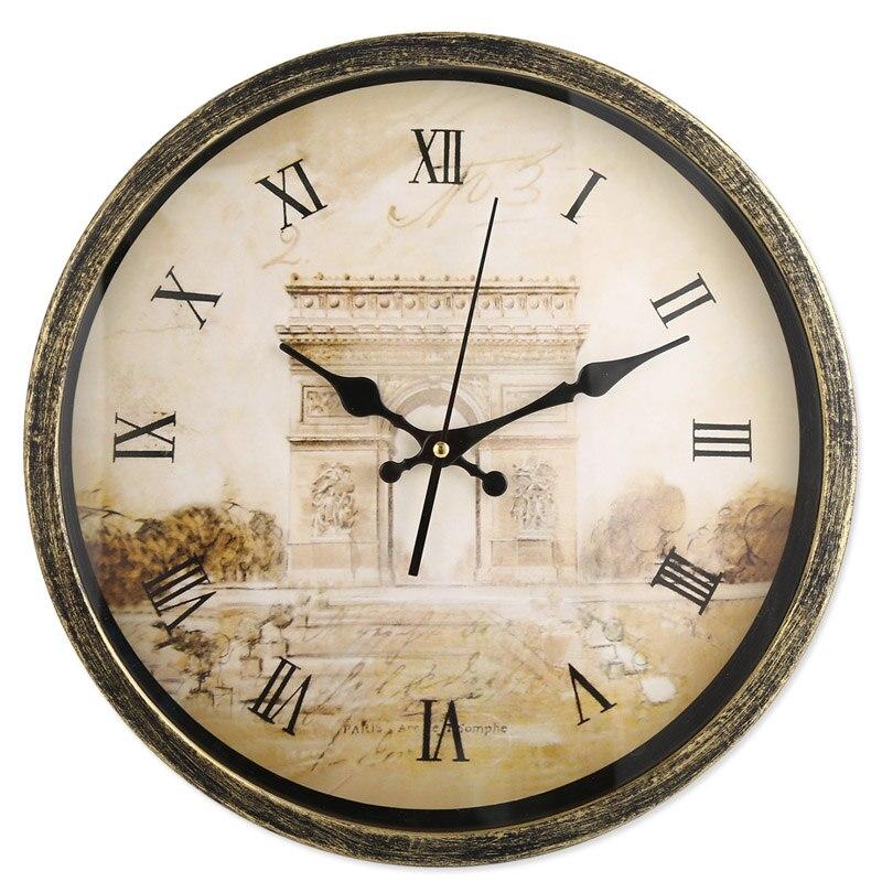 Reloj de pared de 14 pulgadas Material metálico Reloj de estilo - Decoración del hogar