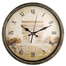 14 Inch Wandklok Metaal Materiaal Romantische Stijl Horloge Tijd Klok Hotel Thuis Woonkamer Slaapkamer Opknoping Bruiloft Decoratie