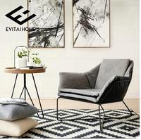 American Village Iron Terrace Sofa. Fabric Single Sofa Chair