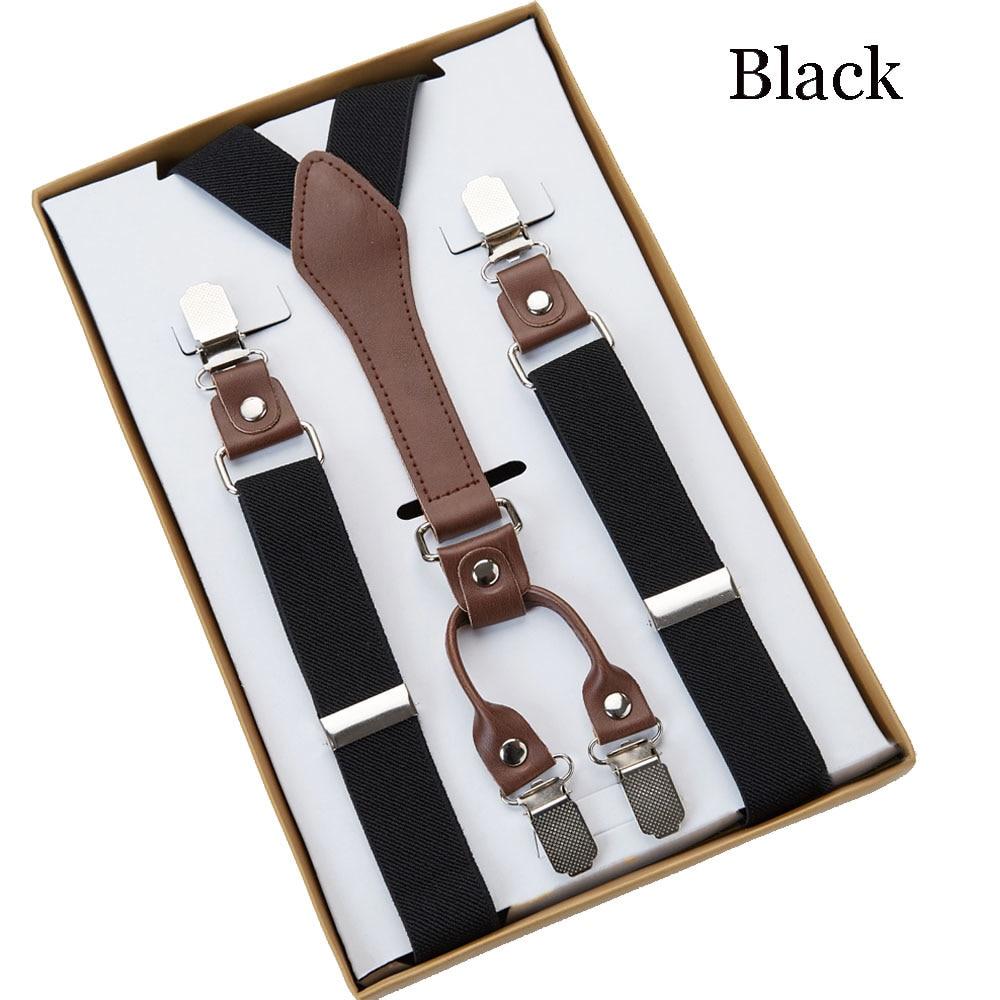 4 Clip herren Hosenträger Hosenträger Unterstützt tirantes Für Frauen Elastische Verstellbare Riemen Kleidung