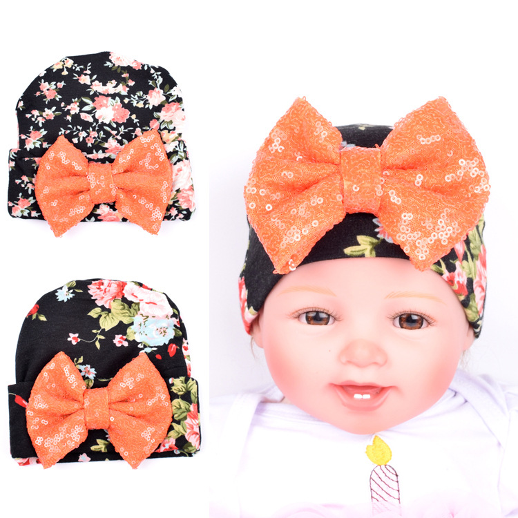 Baby Hat Baby Halloween Hats Bow Baby Caps Girl and Boy Beanie Toddler Infant Baby Caps