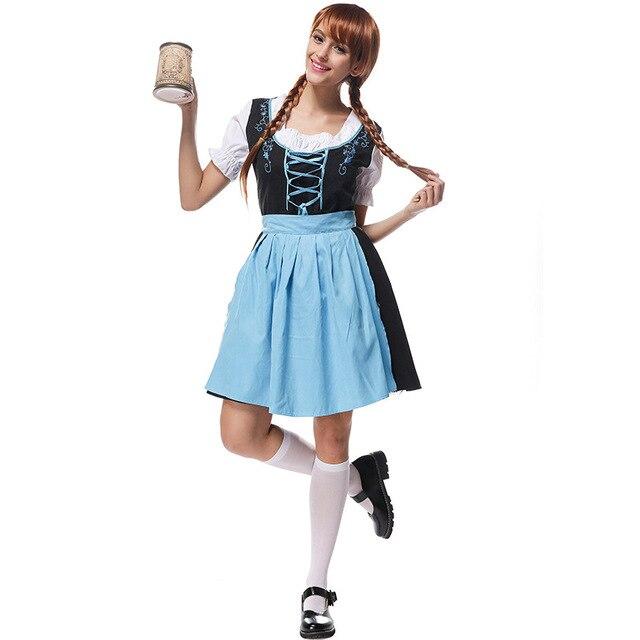 Donne Tedesco Halloween Contadino Di Carnevale Di Birra Wench