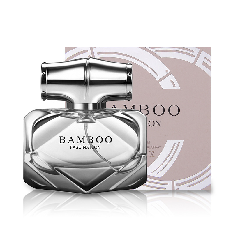 Bottle Glass Bamboo Perfume Feminino  Fragrance For Women Body Spray Liquid Antiperspirant Elegant Lady Original Parfum W22