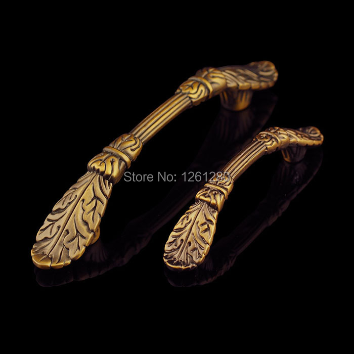 Бесплатная доставка металлическая ручка из цинкового сплава Мебельная ручка Европейская антикварная кухонная обувь дверная ручка для шкафа выдвижная фурнитура - 3
