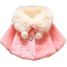 Рождественская Детская одежда девочек зимнее теплое пальто куртка-плащ шерсть плотная теплая одежда вниз Верхняя одежда и пальто
