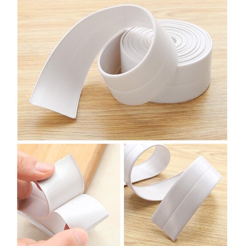 2 Size Home Bathroom Bathtub Kitchen PVC Wall Stickers Art Sealing Strip Sealant Tape Mildew Resistant Waterproof Pegatinas