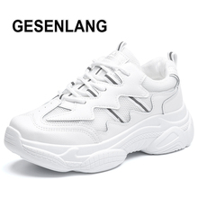 цена на 2019 Women's White Sneakers Running Shoes Durable Breathable Sports Shoes Lady Anti-Skid Outdoor Tourism Trail Walking Shoes New