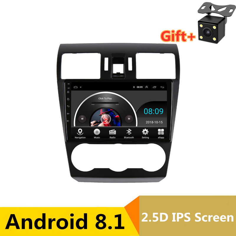 "9"" 2.5D IPS Android 8.1 Car DVD Multimedia Player GPS for Subaru Forester XV WRX 2012 2014-2016 audio radio stereo navigation"