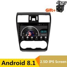 9 «2.5D ips Android 8,1 автомобильный DVD мультимедийный плеер gps для Subaru Forester XV WRX 2012 2014-2016 аудио Радио Стерео навигация