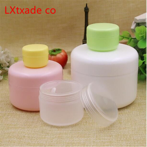 Image 2 - 50 PCS Free Shipping 10 20 100 ML Plastic Empty Bottles Jars Inner Cap Cosmetic Cream Eye Gel Butter Packaging Containers
