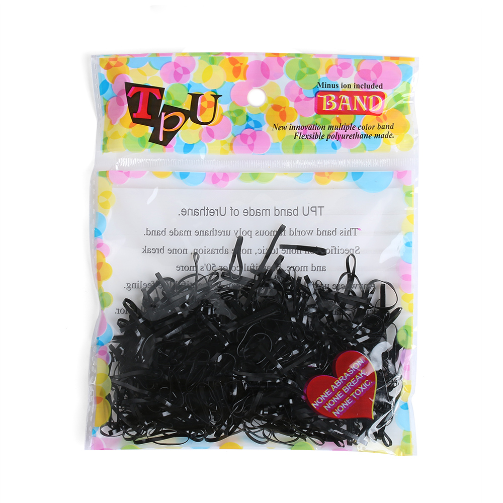 400 Pcs/lot Elastic Hair bands Ponytail Holder Rubber Hair Elastic Accessories for Girls Women Multicolor Tie Gum Hot Sale