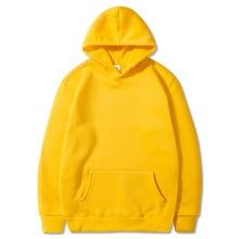 Loose Solid Color Hoodies Men's Thick Clothes Winter Sweatshirts Men Hip Hop Streetwear  Fleece Hoody Man Clothing Couple Wear ветровка jordan jordan jo025emhxre5
