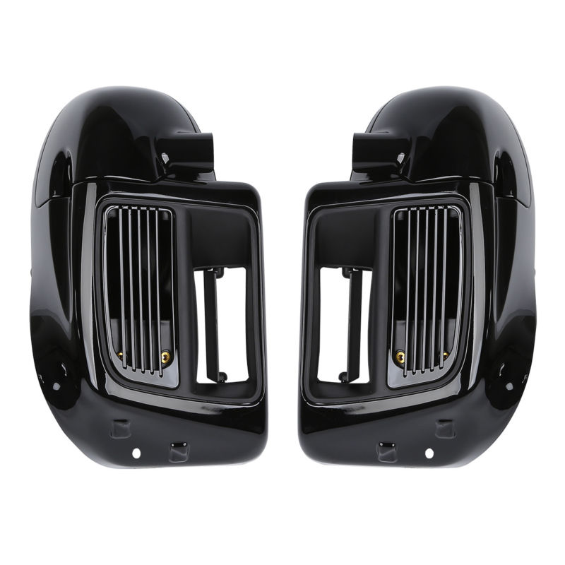 Lower Vented Leg Fairing For Harley Water-Cooled Touring Road King Electra Street Glide 14-18 Black abs hard saddlebags latch keys for harley road king electra street glide 14 18