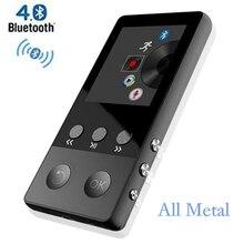 De Metal HiFi Reproductor MP4 con Bluetooth 8 GB 2.0 Pulgadas Pantalla de Reproducción 80 horas puede Soportar 64 GB Tarjeta SD con Radio FM Voz grabadora