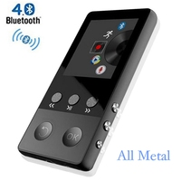 HiFi Metal MP4 Player With Bluetooth 8GB 2 0 Inch Screen Play 80 Hours Can
