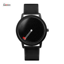 2017 men gift Enmex brief design gentlemancreative geometric designs Floating pointer 3D dail with  young fashion quartz watches