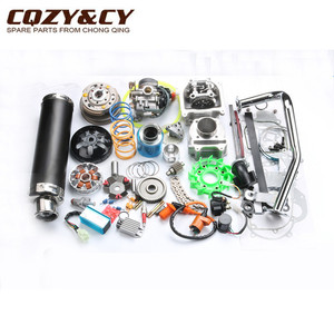 Image 3 - 52mm 105cc Big Bore Performance Kit GY6 50cc 139QMB Chinese Scooter Parts & 6 color muffler