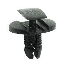 Xiaobaishu 50 adet Peugeot Citroen için siyah iç klip oto raptiye araba İtme tipi perçin tutucu tampon çamurluk sabit kelepçe