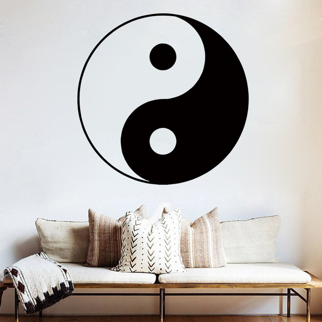 Online Shop D189 YIN YANG SYMBOL YING-YANG WALL ART ROOM STICKER ...
