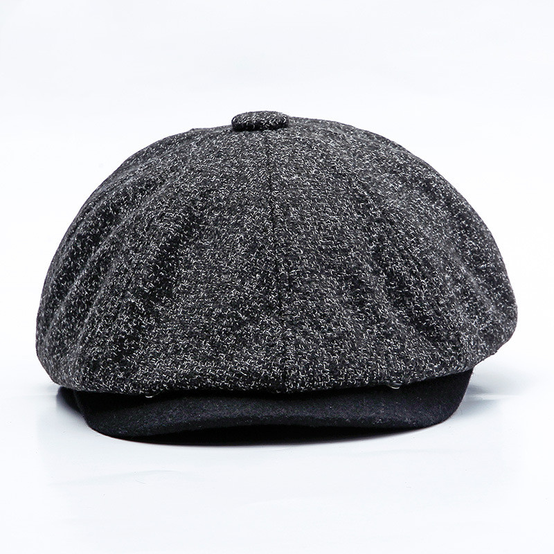 Beret Painter Hat Octagonal-Caps Warm Retro British Autumn Women New Casual for And Literary