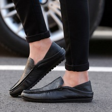 DreamShining Handmade  Leather Men Flats Fashion Business Men Loafers Casual Flats Original Brand Leather Moccasins