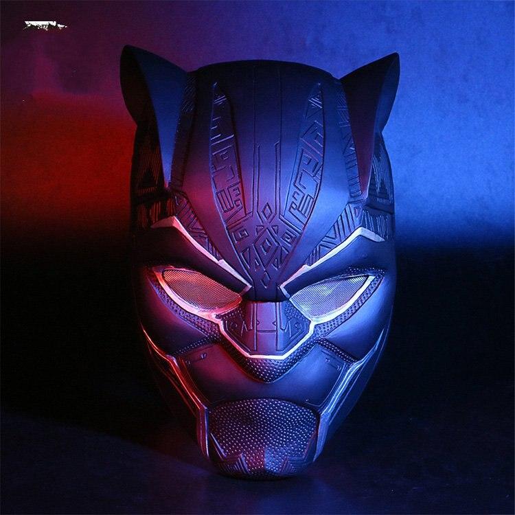 Black Panther Helmet Cosplay Superhero Mask Halloween Matte Mask Halloween Party