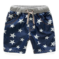 2017 Estrelas Do Bebê Meninos Shorts Jeans Crianças Calças Jeans Esporte 2-14Y Estilo Verão Shorts de Algodão Crianças Calças de Brim Menino Roupas